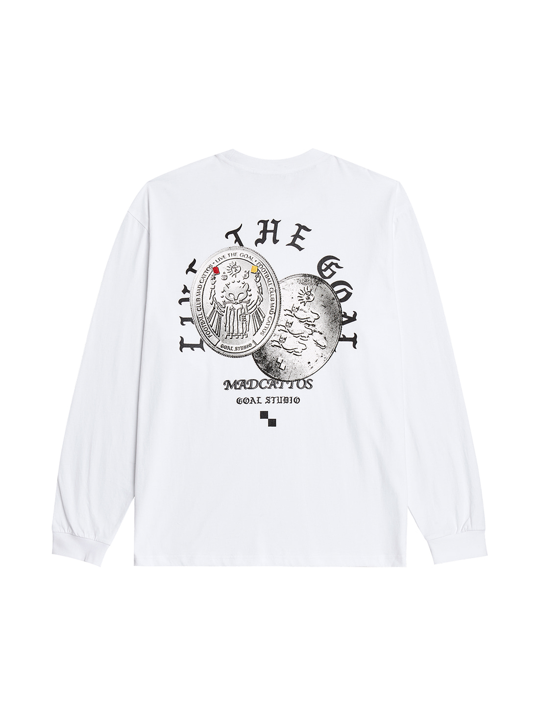GOALSTUDIO MC COIN GRAPHIC LONG SLEEVE TEE - WHITE