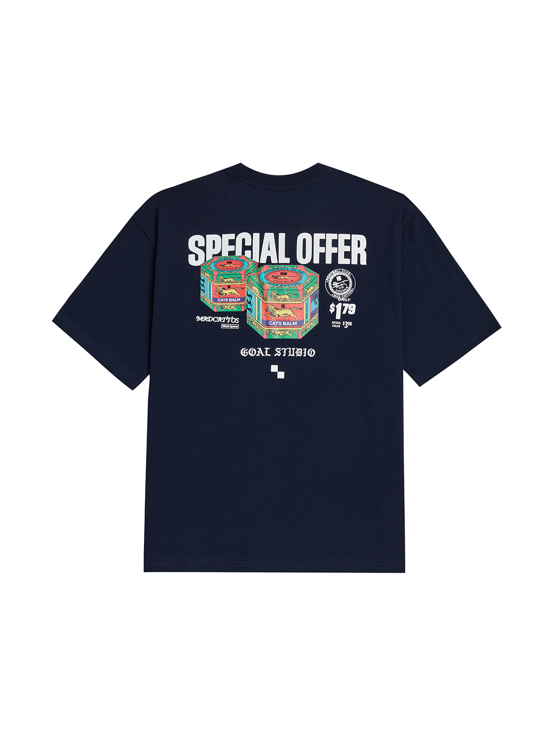 GOALSTUDIO MC BALM GRAPHIC TEE - NAVY