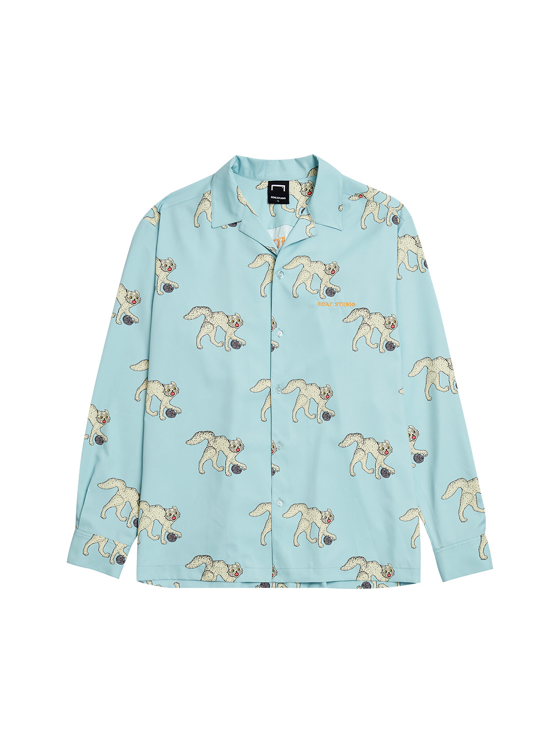 GOALSTUDIO MC ALL OVER PATTERN SHIRTS - LIGHT BLUE