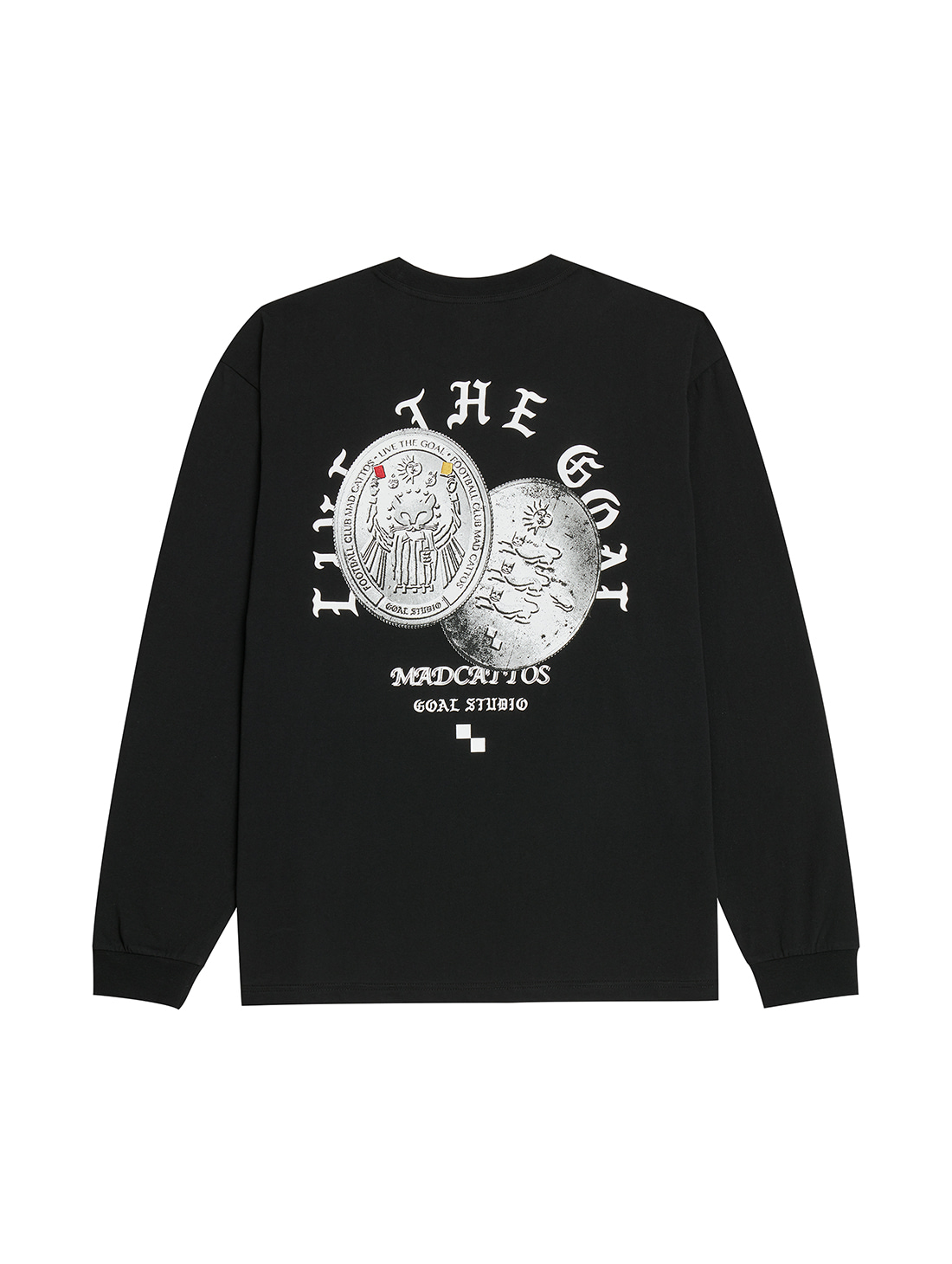 GOALSTUDIO MC COIN GRAPHIC LONG SLEEVE TEE - BLACK