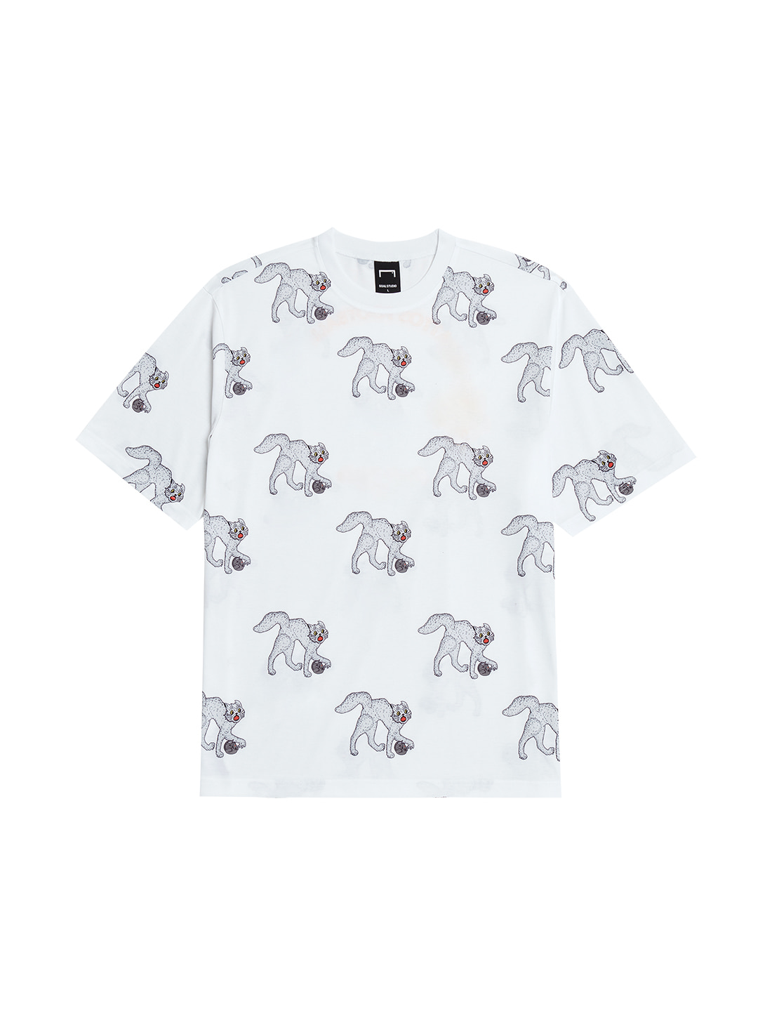 GOALSTUDIO MC ALL OVER PATTERN TEE - WHITE