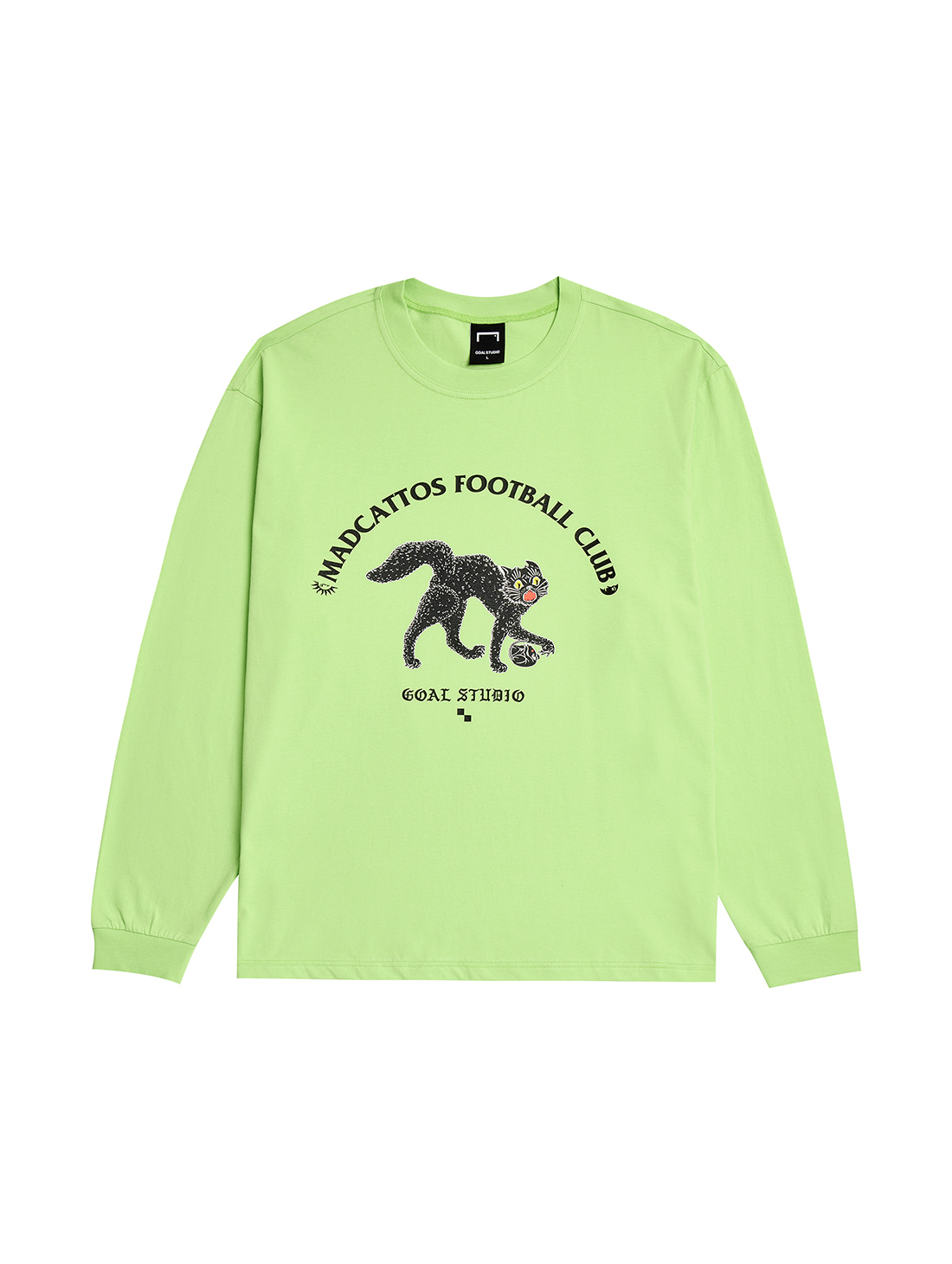 GOALSTUDIO MC GRAPHIC LONG SLEEVE TEE - LIME