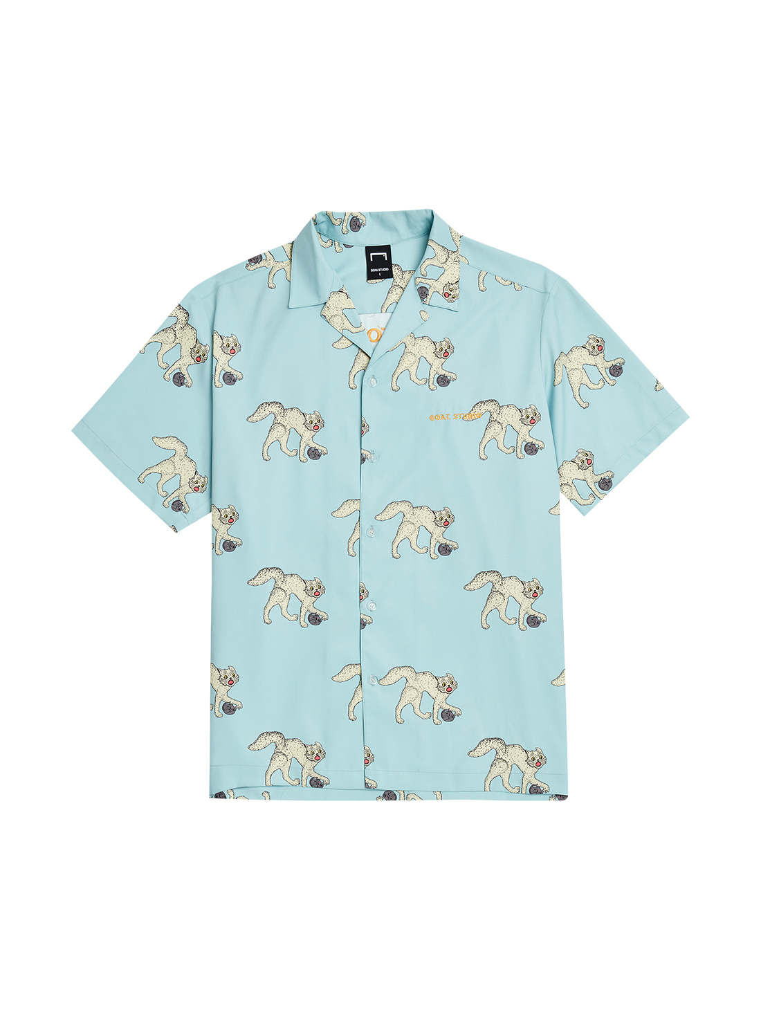 GOALSTUDIO MC ALL OVER PATTERN HALF SHIRTS - LIGHT BLUE