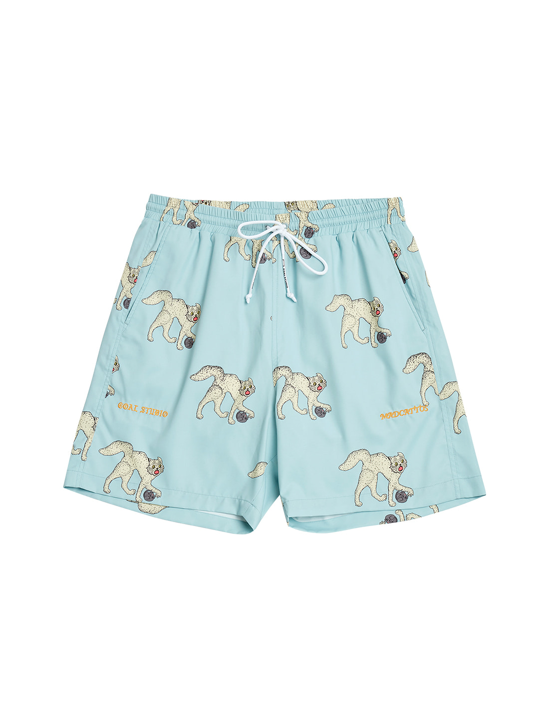 GOALSTUDIO MC ALL OVER PATTERN SHORTS - LIGHT BLUE