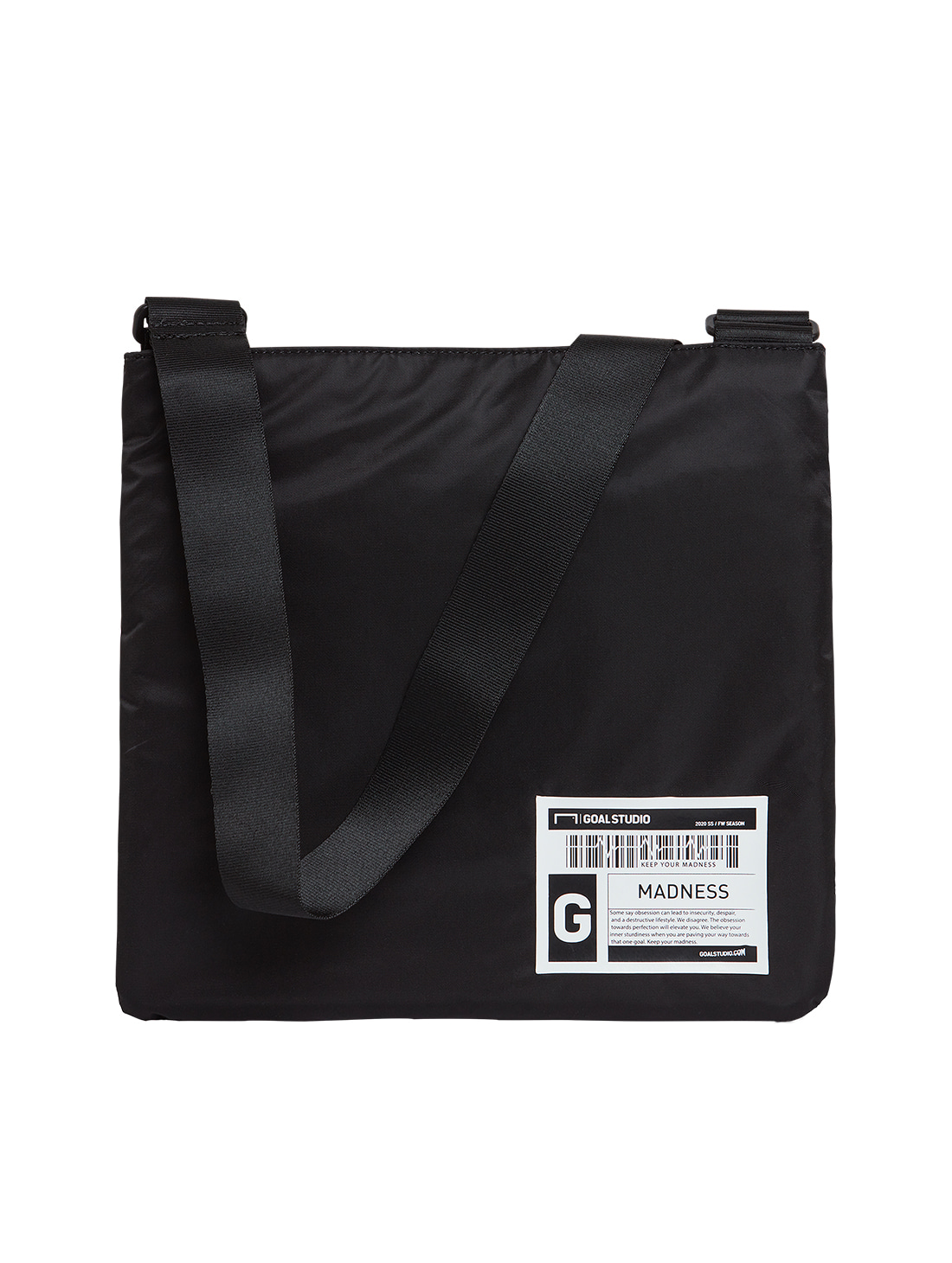GOALSTUDIO LOGO WAPPEN SACOCHE BAG - BLACK