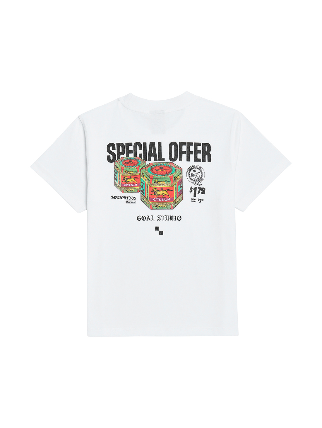 GOALSTUDIO (KIDS) MC BALM GRAPHIC TEE - WHITE