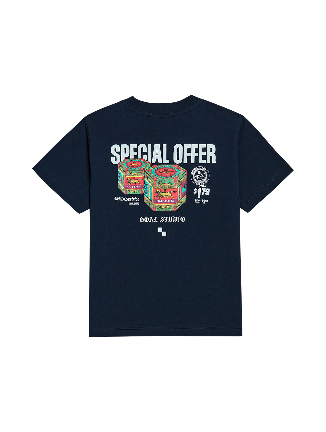 GOALSTUDIO (KIDS) MC BALM GRAPHIC TEE - NAVY