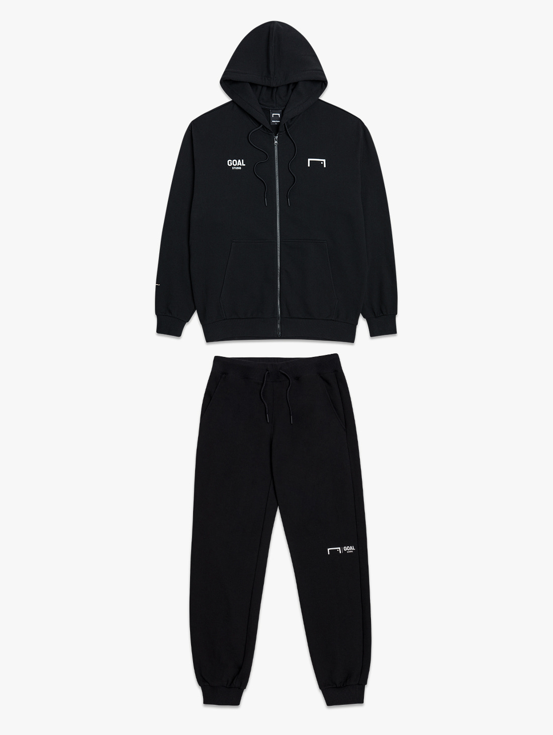 GOALSTUDIO [10% OFF] SIGNATURE ZIP UP HOODIE & GOAL KNIT JOGGER PANTS 2.0 SET