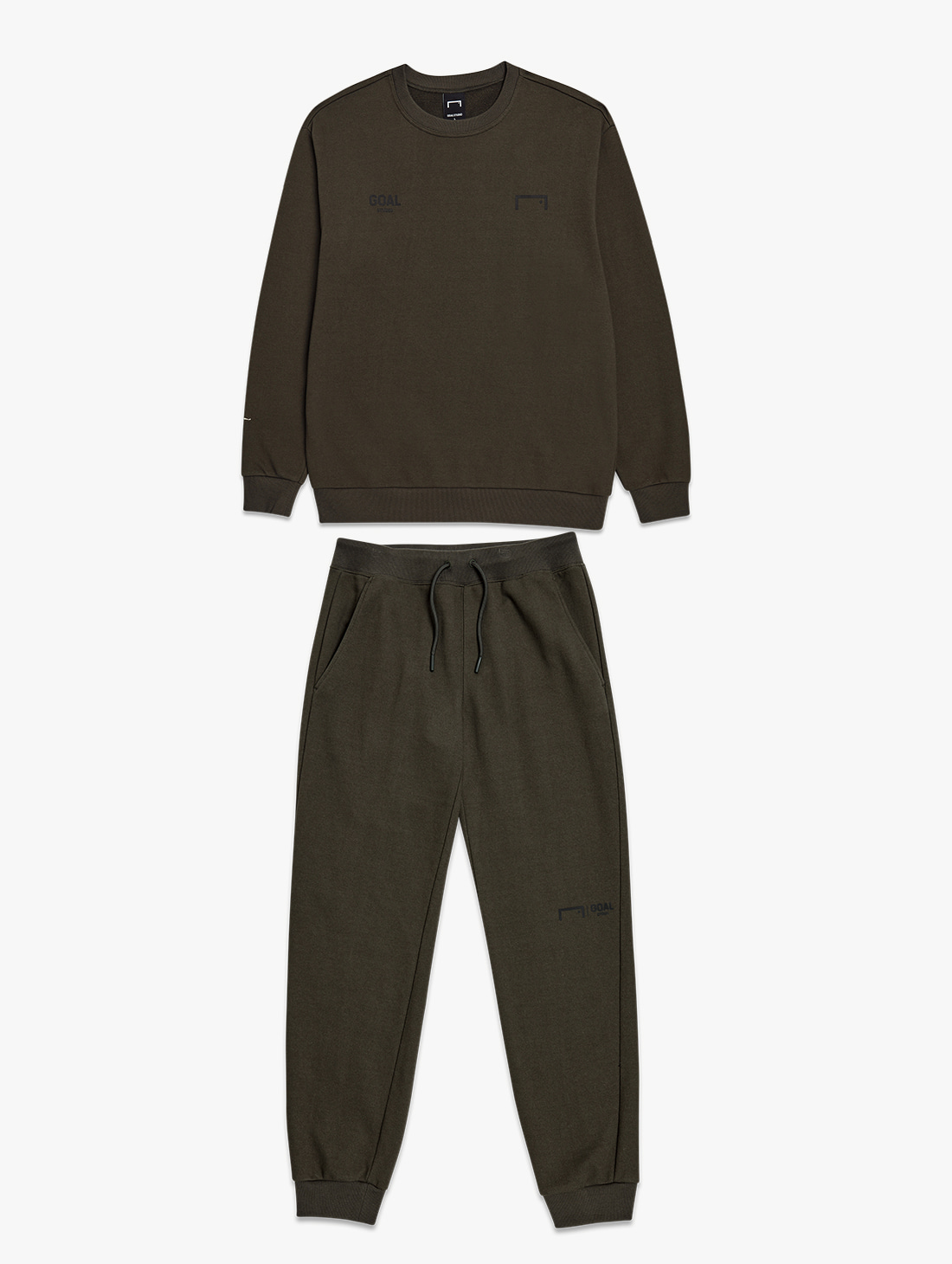 GOALSTUDIO [10% OFF] SIGNATURE LOGO SWEATSHIRT & GOAL KNIT JOGGER PANTS 2.0 SET