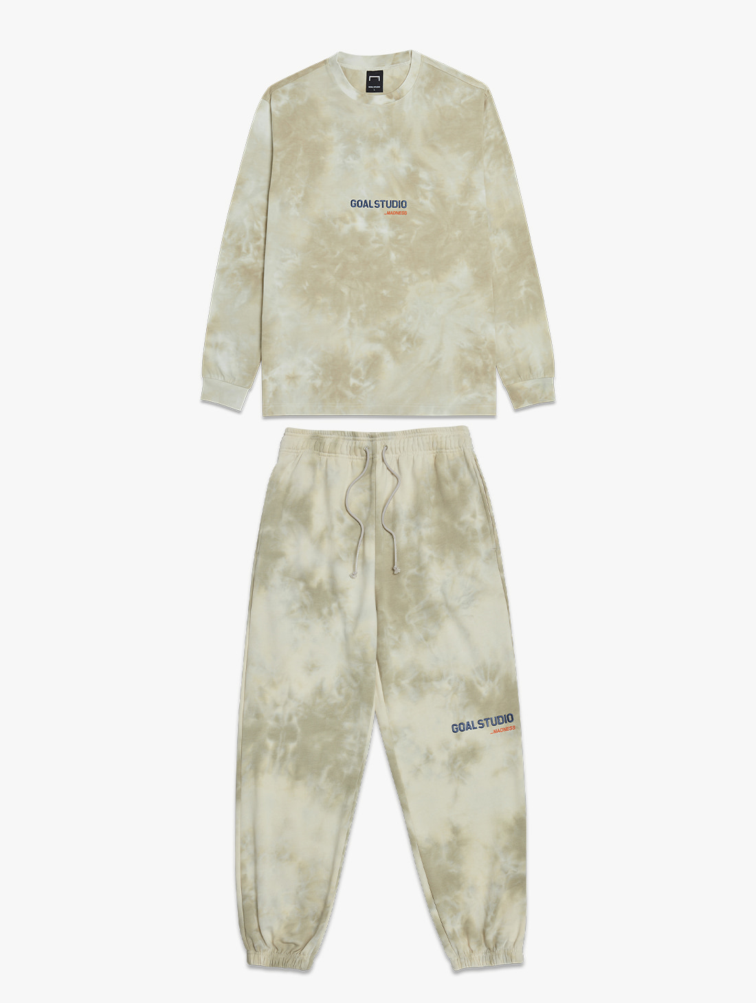 GOALSTUDIO [10% OFF] TIE DYE LONG SLEEVE TEE & TIE DYE JOGGER PANTS SET