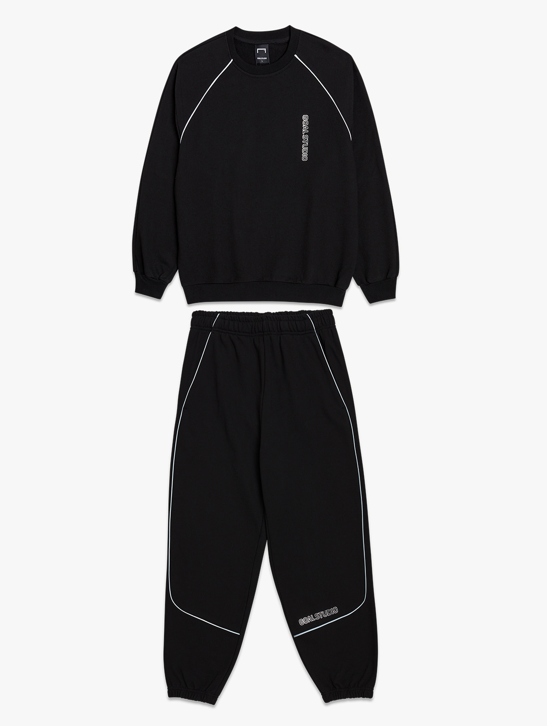 GOALSTUDIO [10% OFF] PIPING SWEATSHIRTS & JOGGER PANTS SET