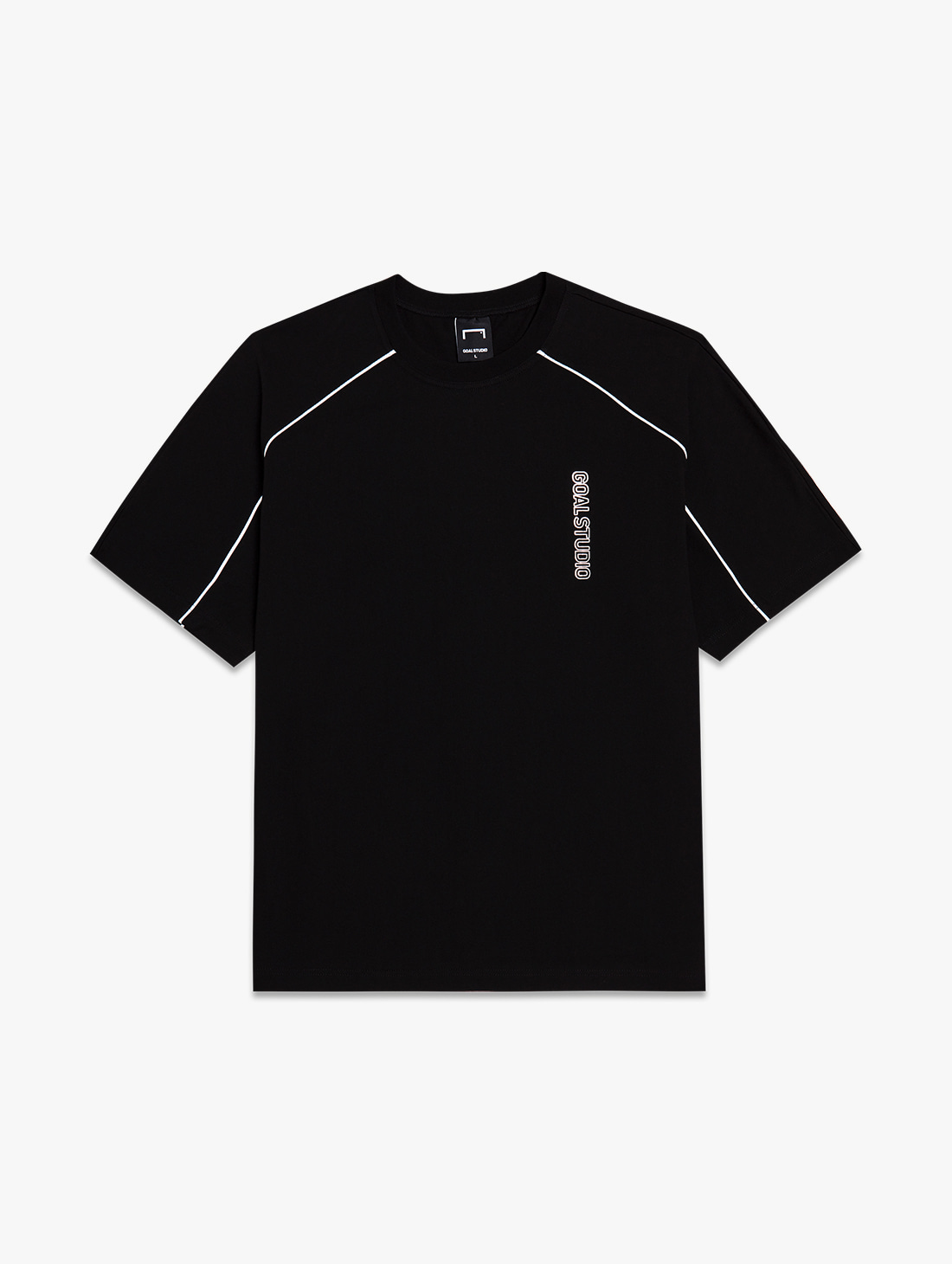 GOALSTUDIO PIPING SHORT SLEEVE TEE (2 Colors)
