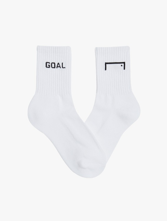 GOALSTUDIO CREW SOCKS 3 PACK - WHITE