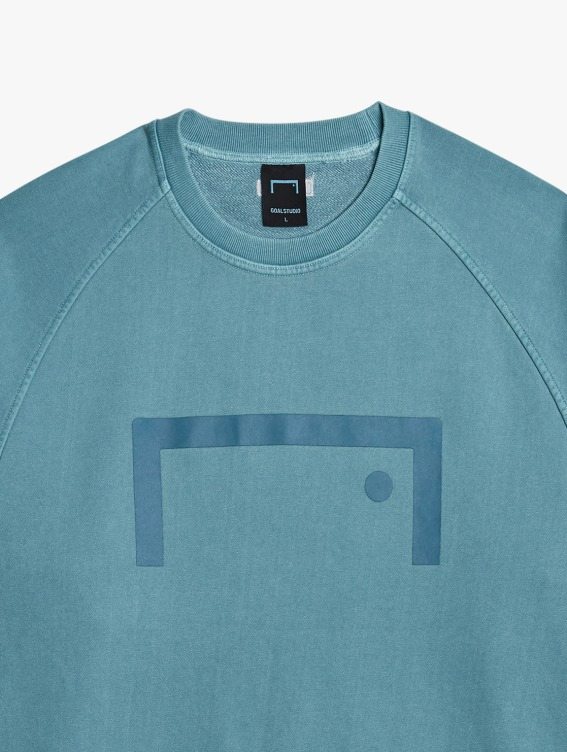 GOALSTUDIO PIGMENT DYE SWEATSHIRT - BLUE