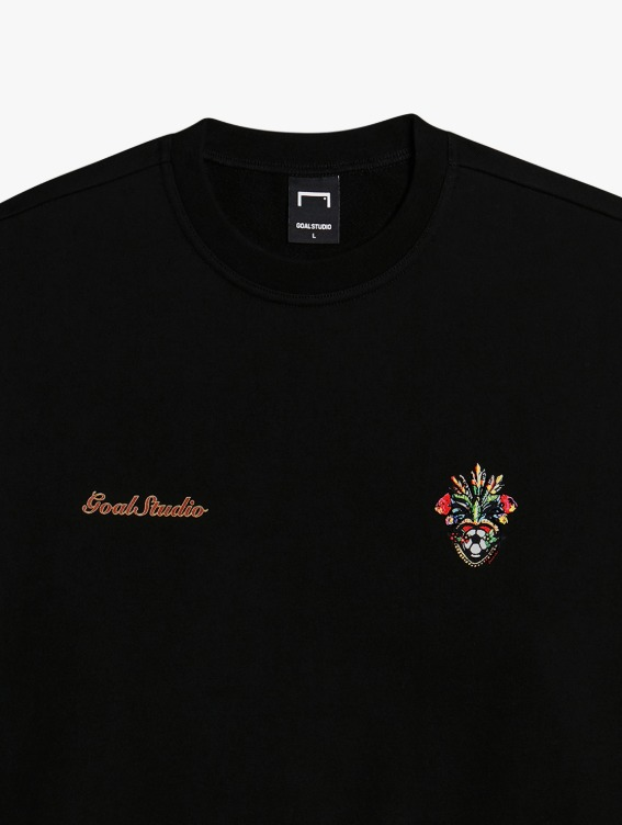 GOALSTUDIO HEART BALL SWEATSHIRT - BLACK