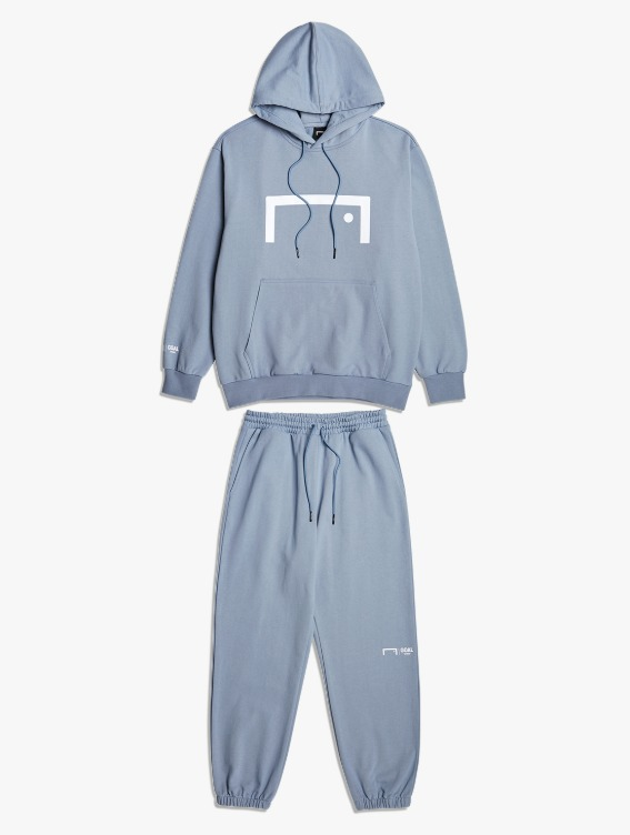 GOALSTUDIO [10% OFF] SIGNATURE LOGO HOODIE & PANTS SET - BLUE GREY