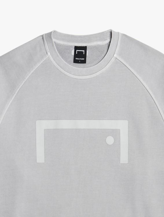 GOALSTUDIO PIGMENT DYE SWEATSHIRT - GREY