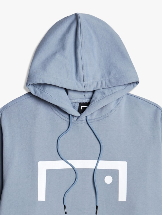 GOALSTUDIO SIGNATURE LOGO HOODIE - BLUE GREY