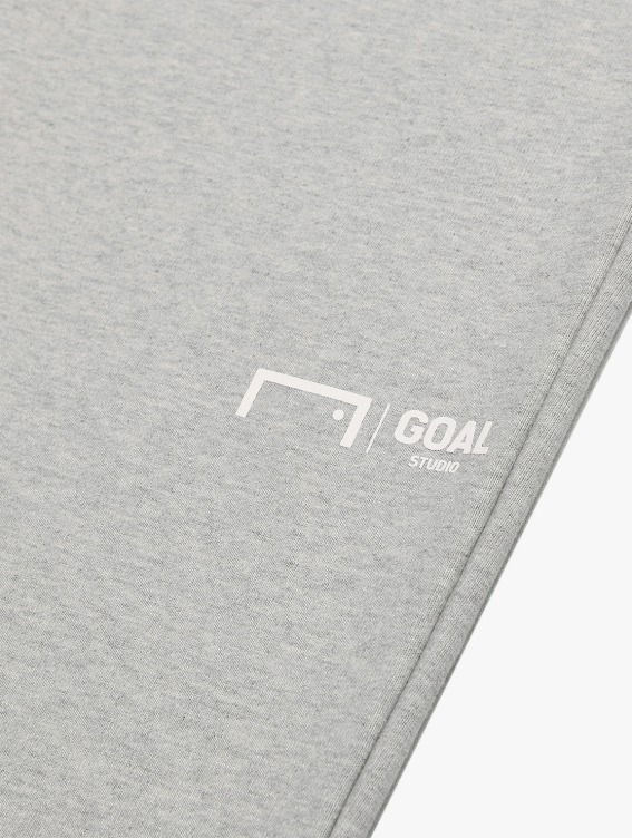 GOALSTUDIO SIGNATURE LOGO PANTS - MELANGE GREY