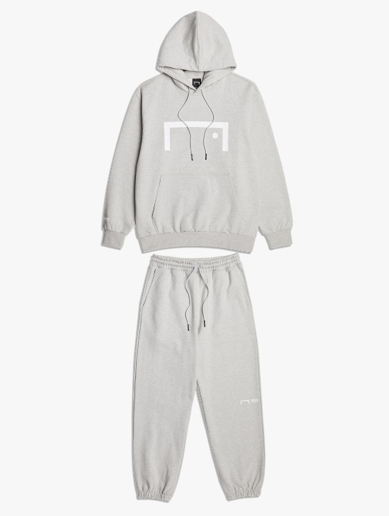 GOALSTUDIO [10% OFF] SIGNATURE LOGO HOODIE & PANTS SET - MELANGE GREY