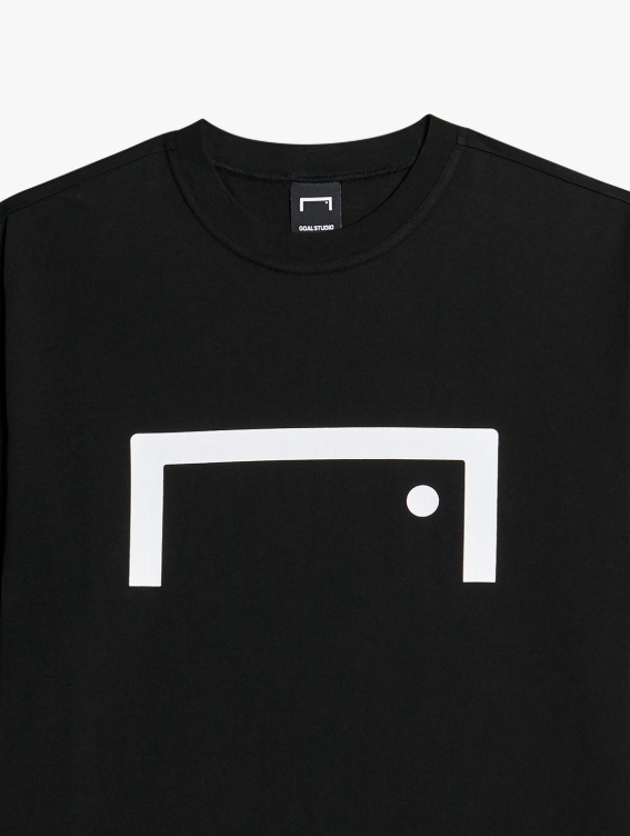 GOALSTUDIO SIGNATURE LOGO TEE - BLACK